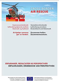 Plakat Cross-Border Air Rescue Deutschland Dänemark